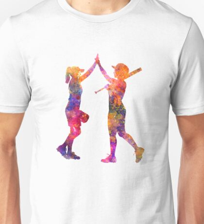 women playing softball 01 Unisex T-Shirt