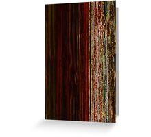 neon wood pattern Greeting Card