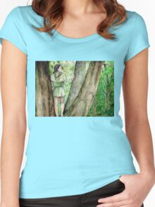 Green-elf of Ossiriand Women's Fitted Scoop T-Shirt