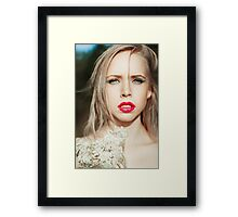 Fashionable young woman Framed Print