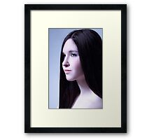 mystical portrait of a beautiful girl Framed Print