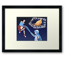 Squid Girl Crossover with RO TKD Framed Print