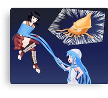 Squid Girl Crossover with RO TKD Canvas Print