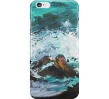 Pacific Rocks California Seascape Acrylics On Paper Fine Art Contemporary Painting iPhone Case/Skin