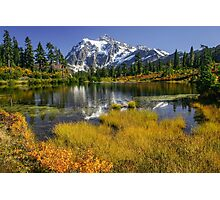 Fall at Picture Lake Photographic Print
