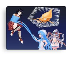 Squid Girl Crossover with RO TKD 2 Canvas Print