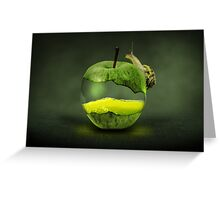 apple concept Greeting Card