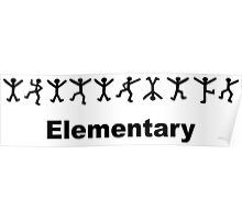 "Sherlock Holmes ""Elementary"" Design Poster"