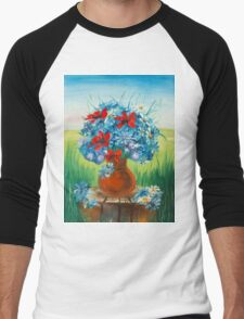 spring vase  Men's Baseball ¾ T-Shirt