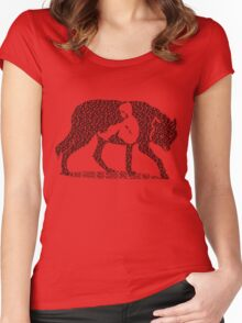 Hungry Like The Wolf Women's Fitted Scoop T-Shirt