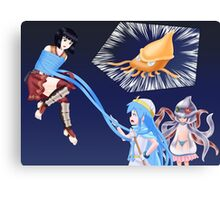 Squid Girl Crossover with RO TKD 3 Canvas Print