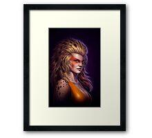 Cheetara Dark Framed Print