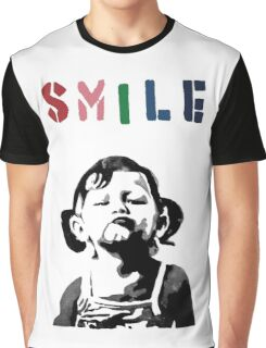 Banksy - SMILE Graphic T-Shirt