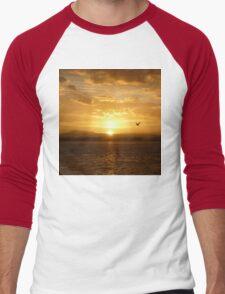 **Sun Rise Inspection Head*  Men's Baseball ¾ T-Shirt