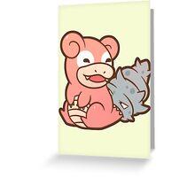 Slowbro - Pokémon Greeting Card