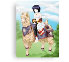 Ragnarok Online: Sura Riding Llama vs2 Canvas Print