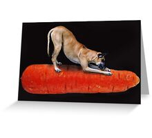 Gotta have your vegetables !  Greeting Card