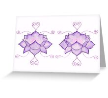 Purple Lotus II Greeting Card