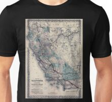 0391 Railroad Maps Map of California to accompany printed agreement of S O Houghton as to the rights of the Southern Pacific R R Co of Cal to government lands under Acts of Unisex T-Shirt