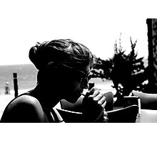 Girl Lighting a Cigarette Photographic Print