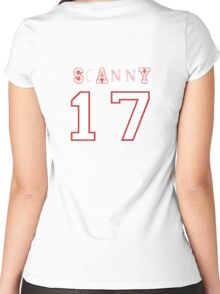 Scanny 17 (back) Women's Fitted Scoop T-Shirt