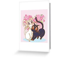 Luna & Artemis New Version Greeting Card