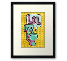 Toilet Humour Framed Print