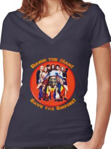 Save the Empire! Women's Fitted V-Neck T-Shirt