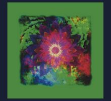 Flowers 0011 One Piece - Short Sleeve