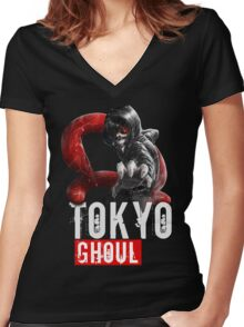 Tokyo Ghoul - Kaneki Ken Women's Fitted V-Neck T-Shirt