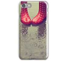 Raining every which way! iPhone Case/Skin