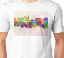 Siena skyline in watercolor background Unisex T-Shirt