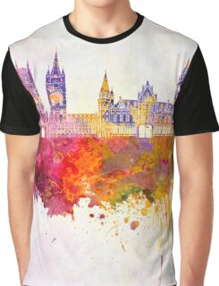 Ghent skyline in watercolor background Graphic T-Shirt