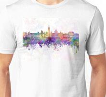 Graz skyline in watercolor background Unisex T-Shirt