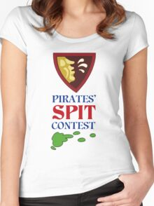 MONKEY ISLAND 2 - PIRATES SPIT CONTEST Women's Fitted Scoop T-Shirt