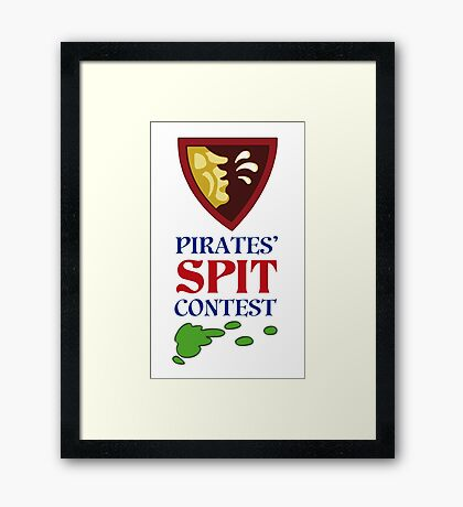 MONKEY ISLAND 2 - PIRATES SPIT CONTEST Framed Print