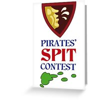 MONKEY ISLAND 2 - PIRATES SPIT CONTEST Greeting Card