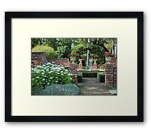 English  garden with a fountain Framed Print