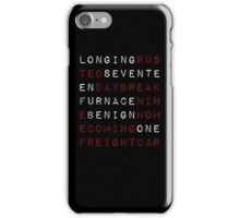 trigger words iPhone Case/Skin