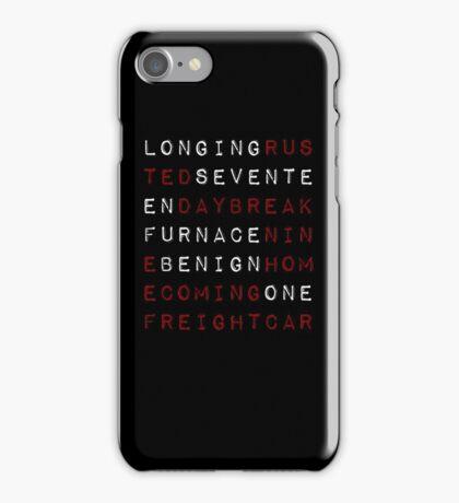 trigger words iPhone Case/Skin