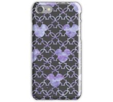 Mouse Ears Watercolor in Lilac iPhone Case/Skin