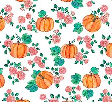 Pumpkins and Roses by micklyn