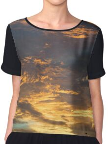 Sunset Landscape Chiffon Top
