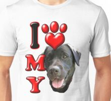 I Love My Black Lab Unisex T-Shirt