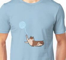 Minimalist Cat With Yarn Unisex T-Shirt