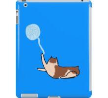 Minimalist Cat With Yarn iPad Case/Skin