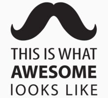 Awesome Mustache Kids Tee