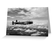 617 Squadron Tallboy Lancasters black and white version Greeting Card