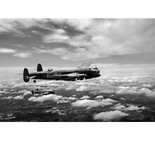 617 Squadron Tallboy Lancasters black and white version Photographic Print