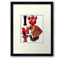 I Love My Foxhound Framed Print